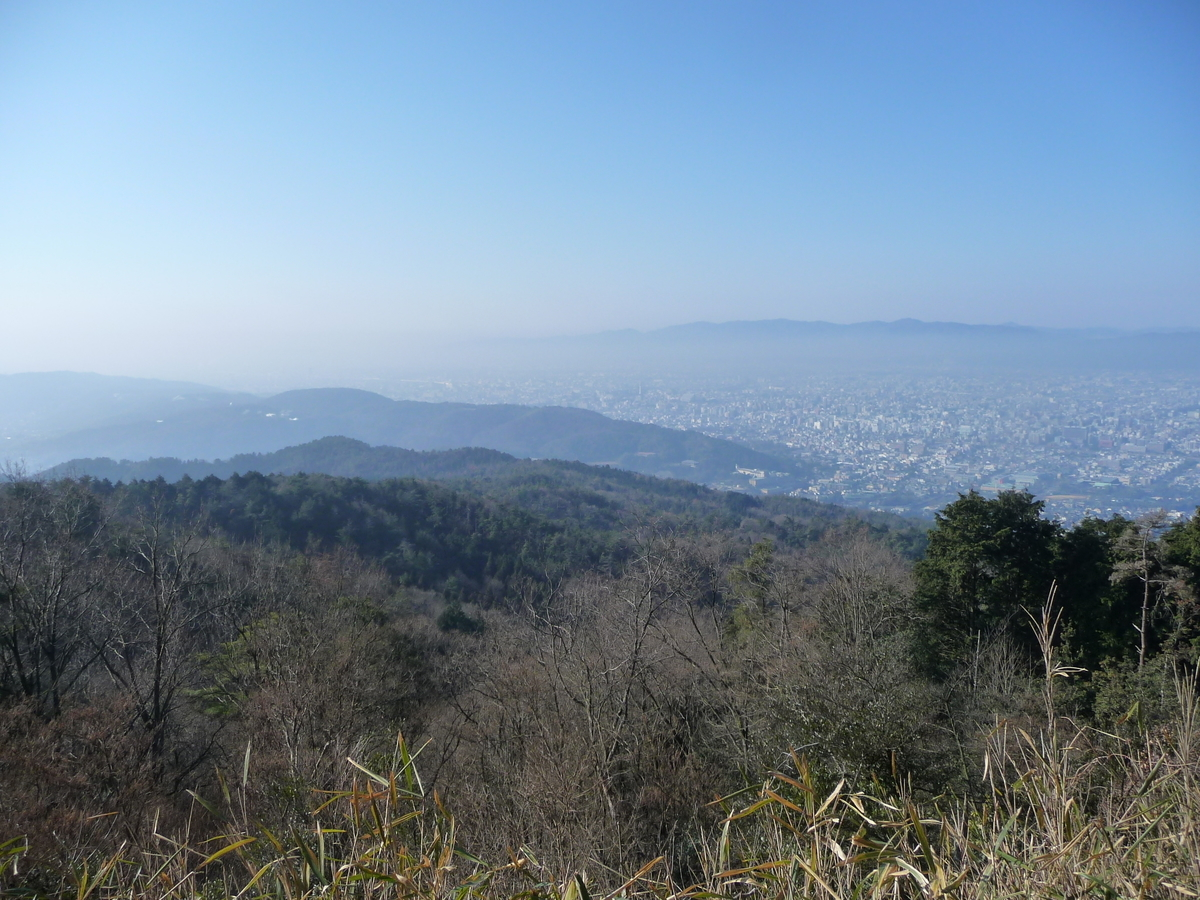 大文字山の山頂より 2010年1月17日 撮影:MKタクシー