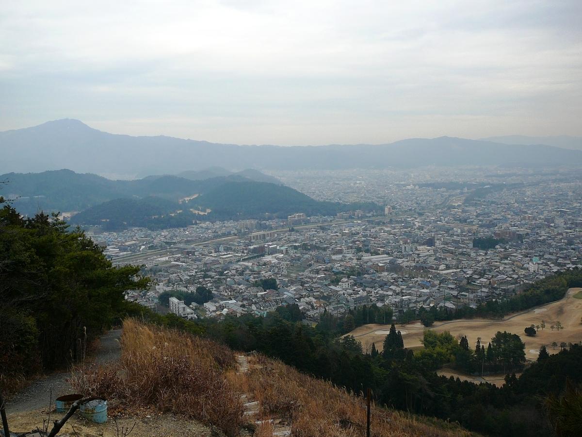 火床から見た上賀茂から比叡山方面