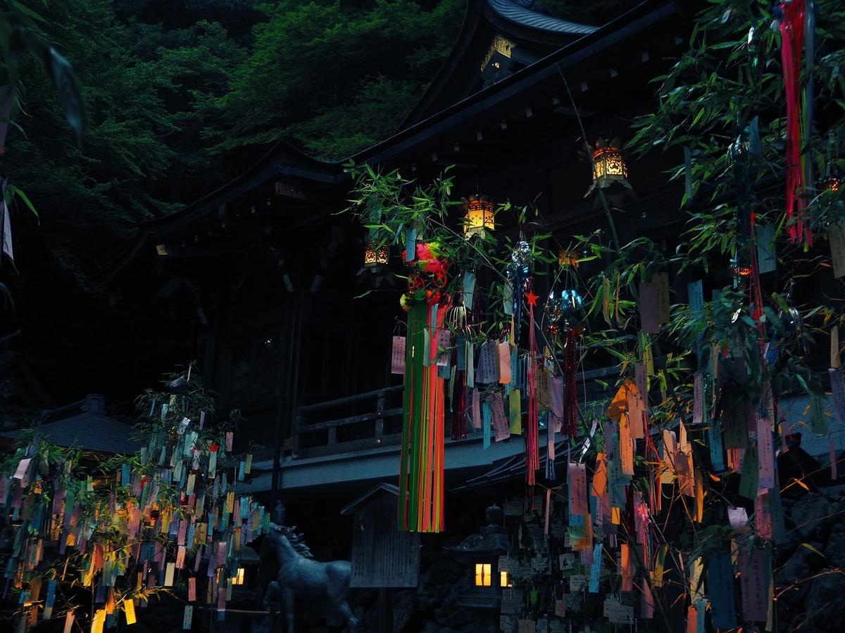 七夕笹飾りライトアップ 2017年7月19日 撮影:MKタクシー