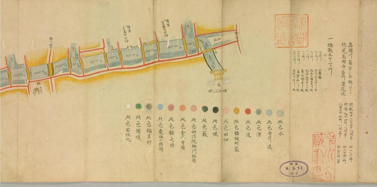 高瀬川筋之図(国立国会図書館デジタルコレクション)