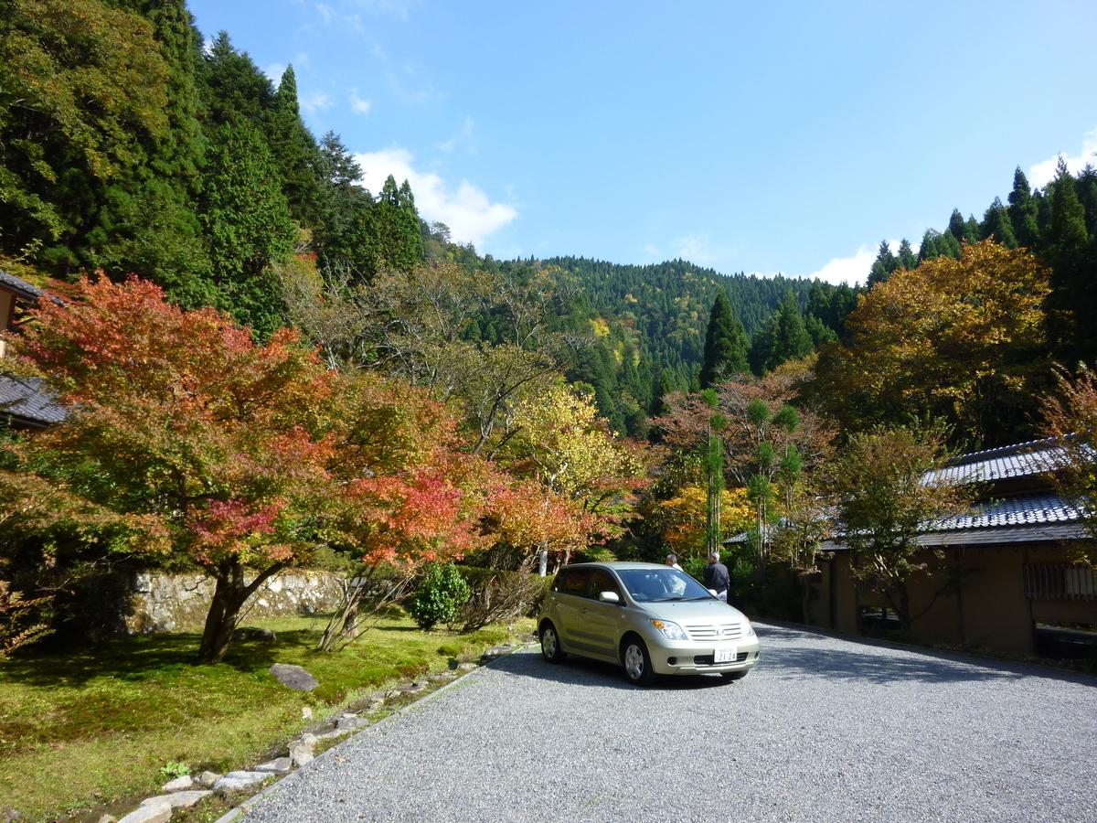 美山荘前の紅葉 見頃 2010年11月6日 撮影:MKタクシー