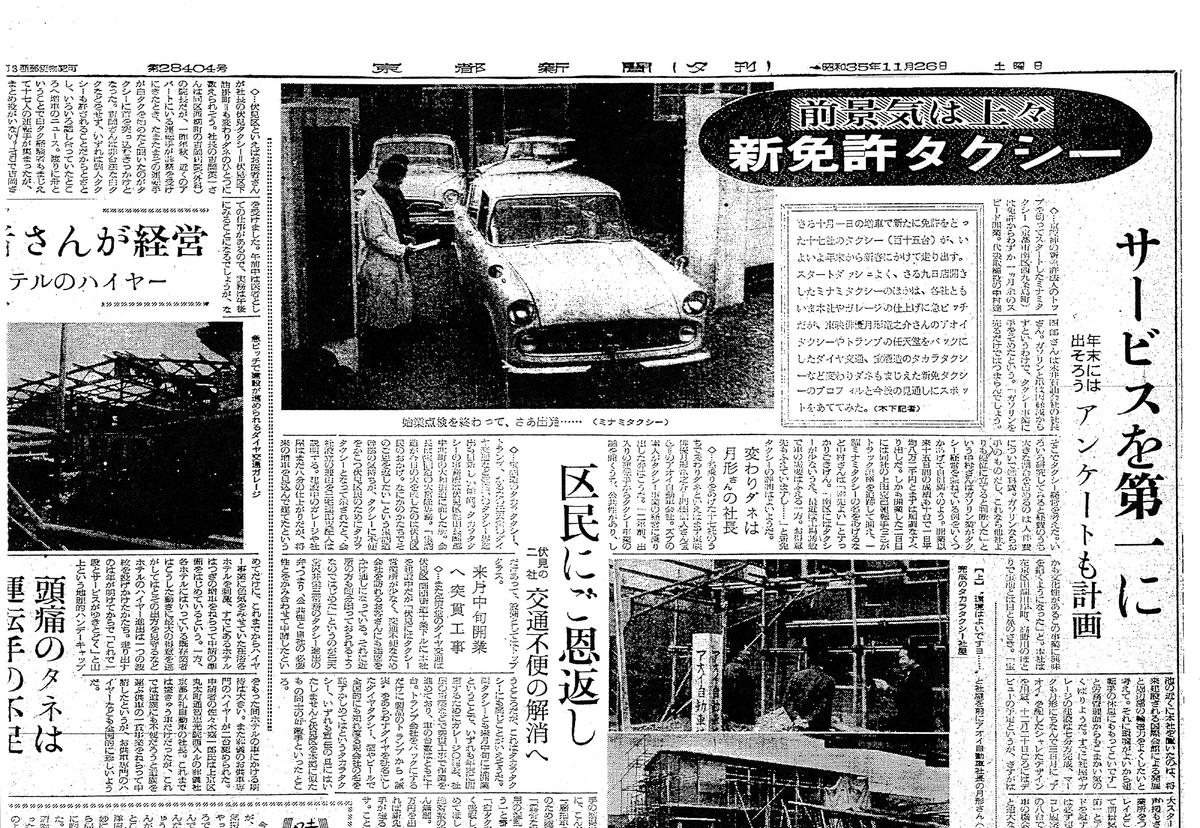 1960年10月 ミナミタクシー設立