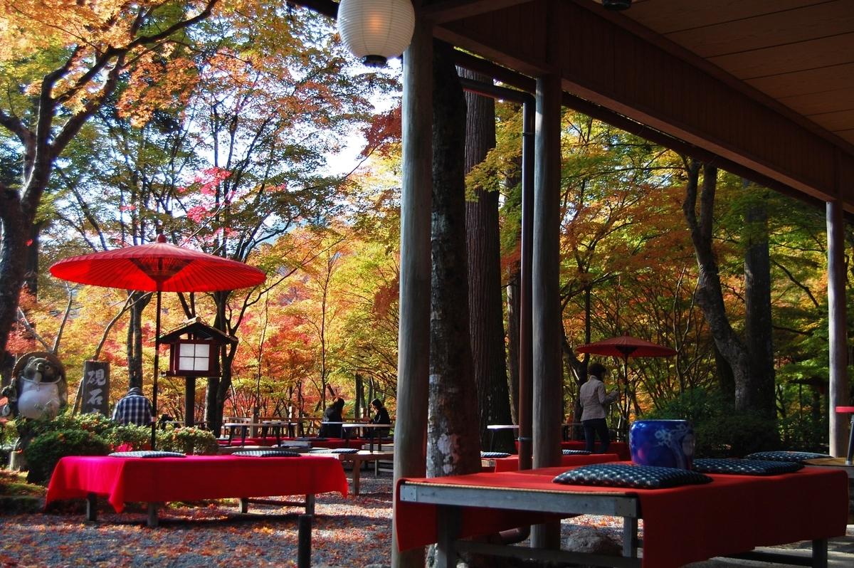 神護寺・高雄茶店の紅葉 見頃 2007年11月15日 撮影:MKタクシー