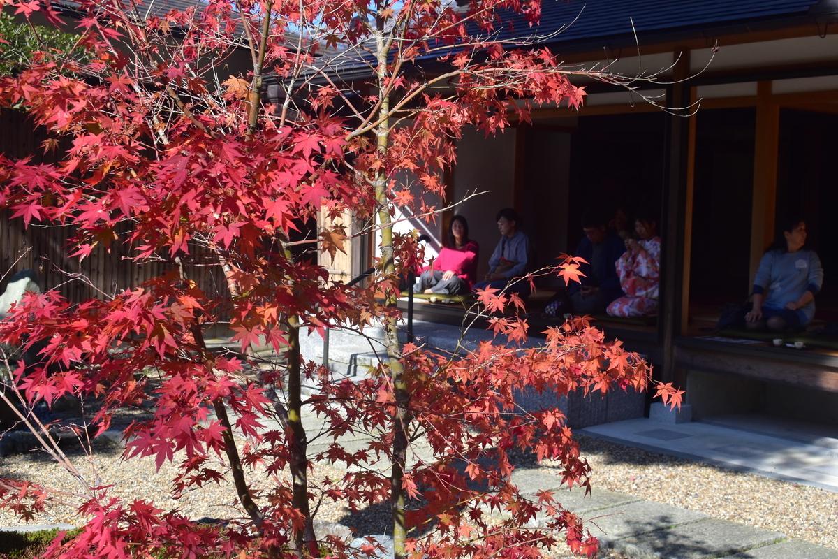正寿院・本堂の紅葉 色づきはじめ 2018年11月11日 撮影:MKタクシー
