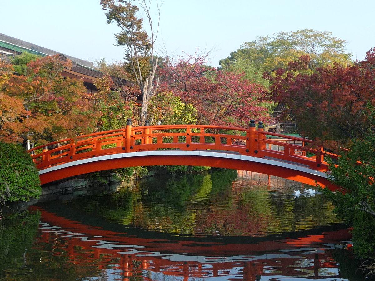 神泉苑・法成橋の紅葉 見頃 2009年11月6日 撮影:MKタクシー