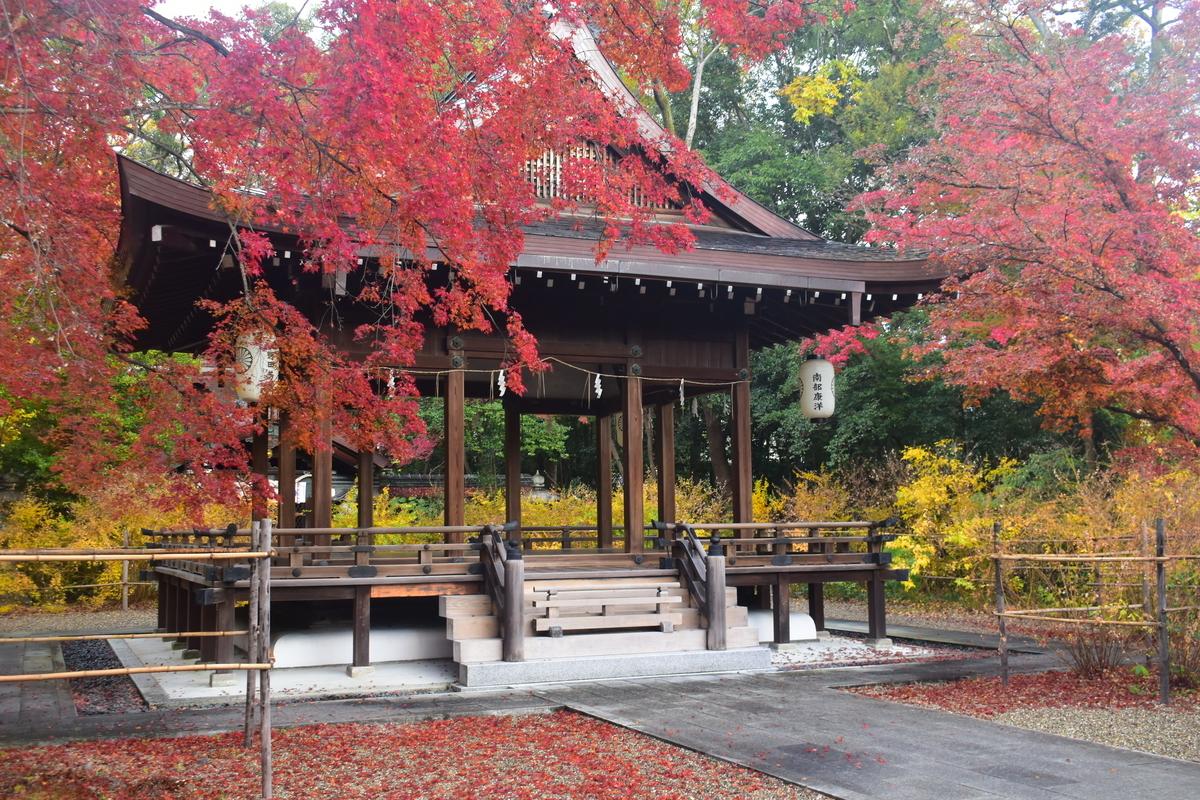 梨木神社の紅葉 2019年11月30日 見頃 撮影:MKタクシー