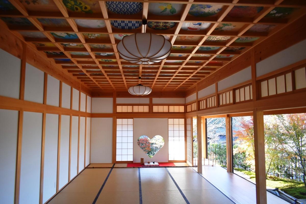 正寿院・客殿の天井画 見頃 2020年11月14日 撮影:MKタクシー