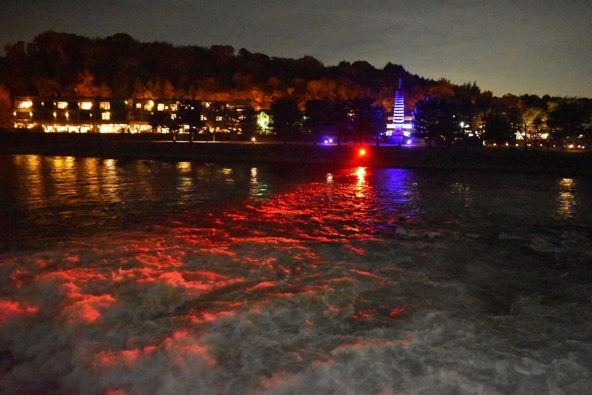 朝霧通から塔の島・宇治灯りのみち 2020年11月22日 撮影:MKタクシー