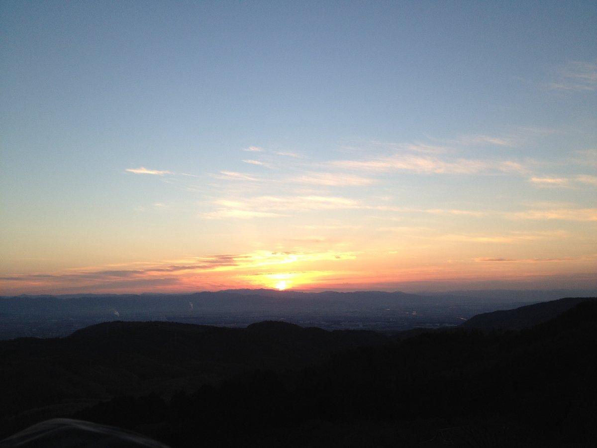 7:10 善峯寺の初日の出 撮影:MKタクシー