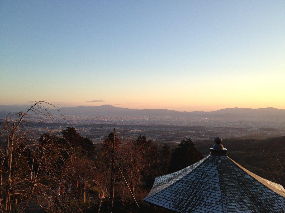 7:23 善峯寺の初日の出 釈迦堂前 撮影:MKタクシー