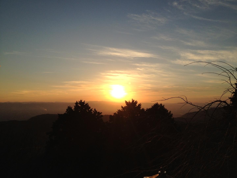 7:24 善峯寺の初日の出 釈迦堂前 撮影:MKタクシー