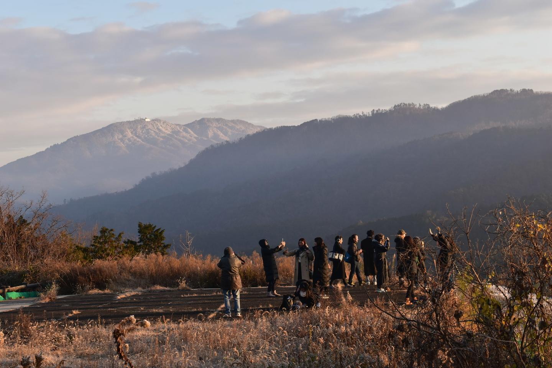 比叡山遠望 7:39 撮影:MKタクシー