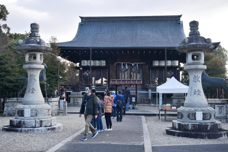 乃木神社拝殿 2021年1月2日 撮影:MKタクシー