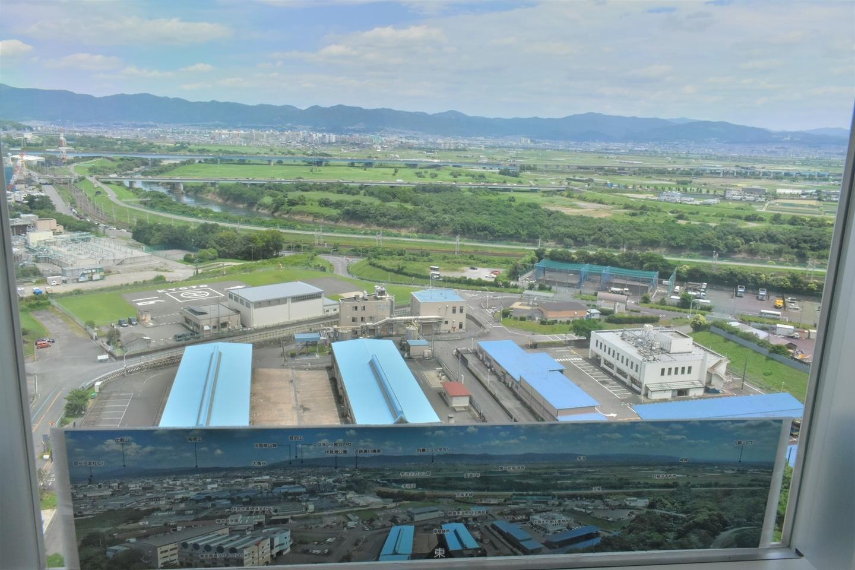京都市南部クリーンセンター さすてな展望台より東側 2021年6月20日 撮影:MKタクシー