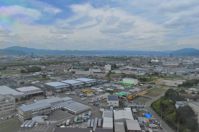 京都市南部クリーンセンター さすてな展望台より北側 2021年6月20日 撮影:MKタクシー