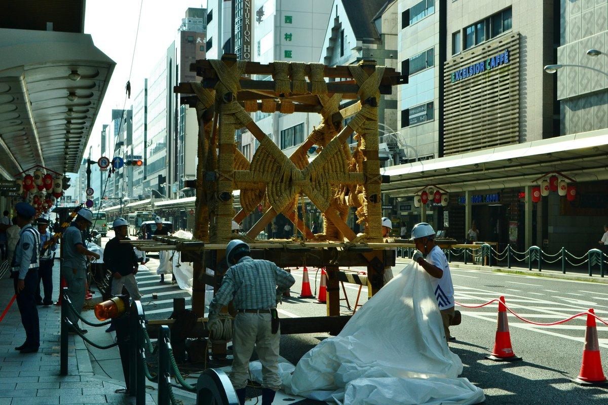 長刀鉾の山鉾建て 2017年7月11日 撮影:MKタクシー