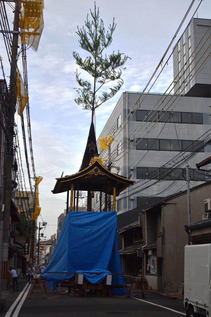 岩戸山の山鉾建て 2018年7月13日 撮影:MKタクシー