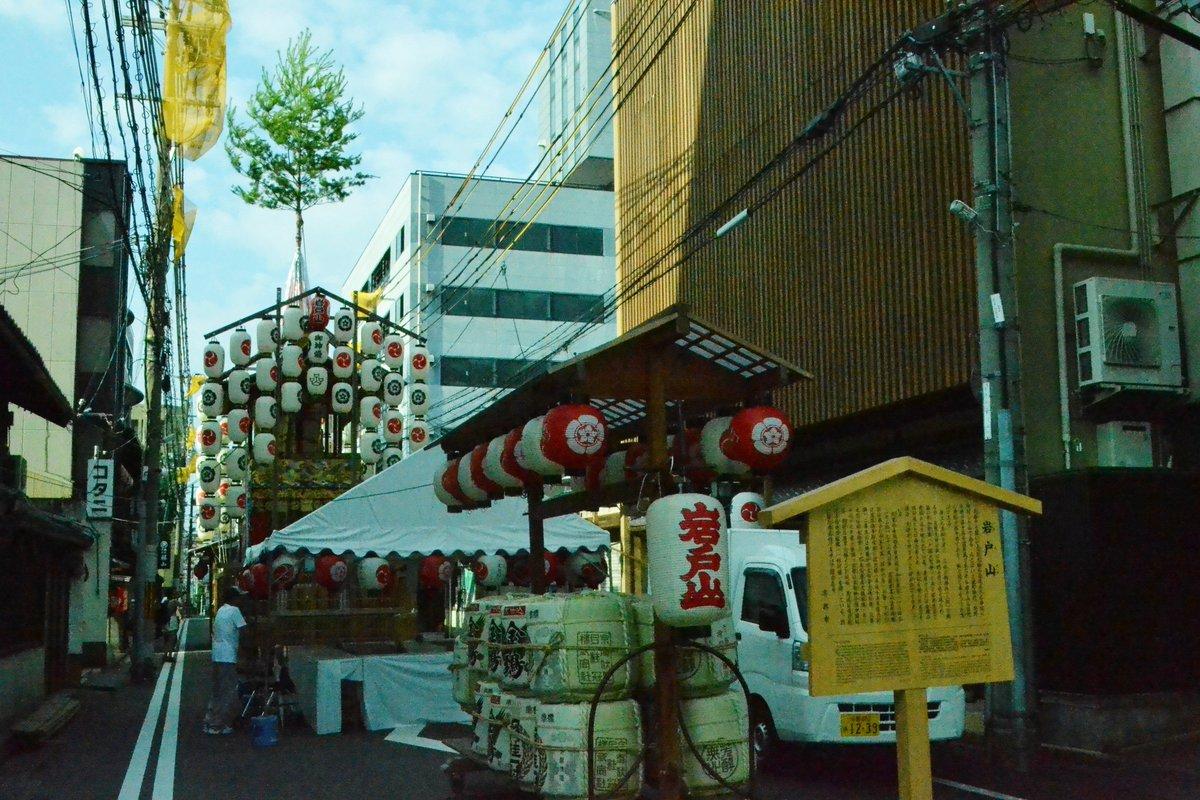 岩戸山の山鉾建て 2017年7月14日 撮影:MKタクシー