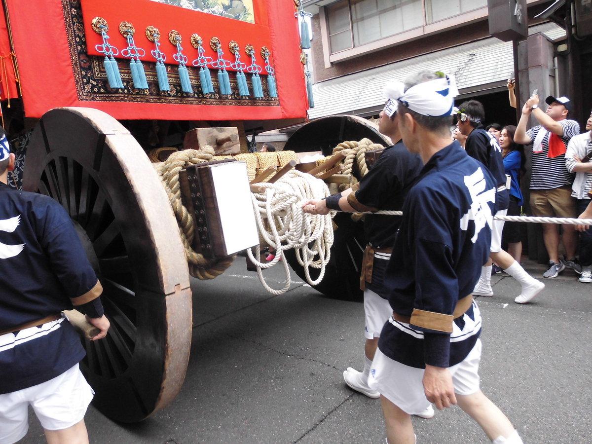 三条新町上ルの船鉾 2016年7月17日 撮影:MKタクシー