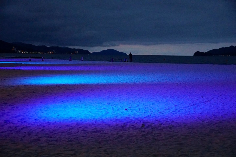 天橋立 砂浜ライトアップ 2020年7月18日 撮影:MKタクシー