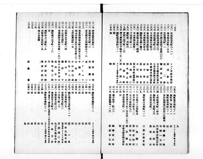 1913年刊行 ゴム新報社「大日本護謨同業名鑑」(国立国会図書館デジタルコレクションより)