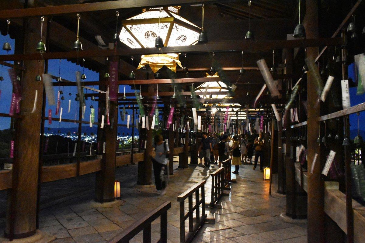 南部風鈴がなる本堂からの回廊 2018年8月15日 撮影:MKタクシー