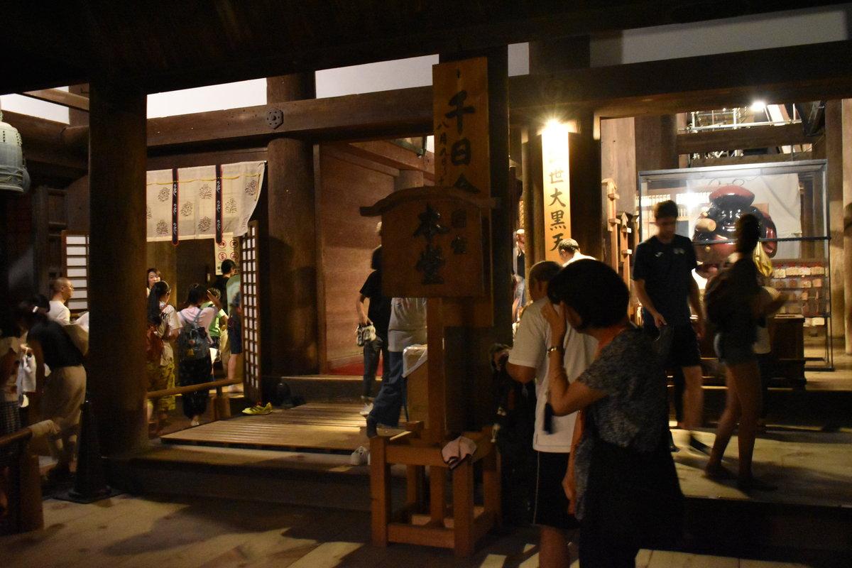 本堂内々陣への入口 2018年8月15日 撮影:MKタクシー