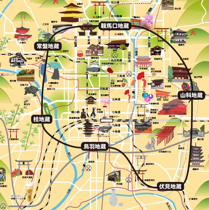 六地蔵巡りマップ