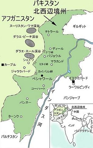 ペシャワール地図