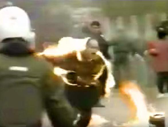 焼身のクルド人、1994年3月22日ドイツ・フランクフルトで