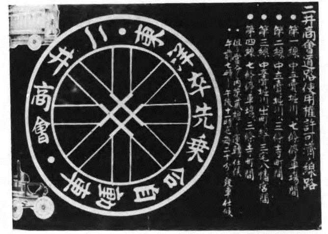 二井商会の開業宣伝ポスター