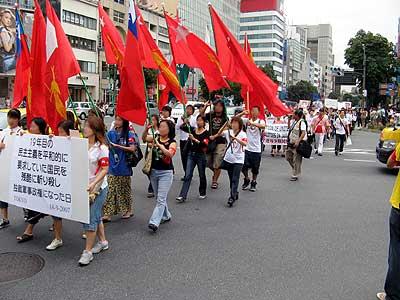 ビルマの民主化を求めるデモ