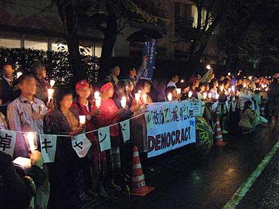 ミャンマー(ビルマ)に平和を・・・犠牲者追悼キャンドル集会