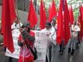 ミャンマー軍事政権の非民主主義的な2010年総選挙に反対するデモ行進
