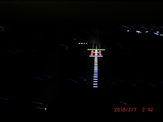 飛行機の先端から見たカメラ