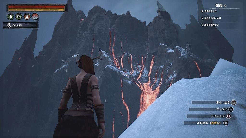 火山が近いが