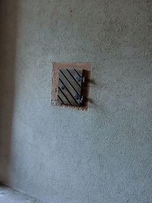 壁にあった謎の木枠