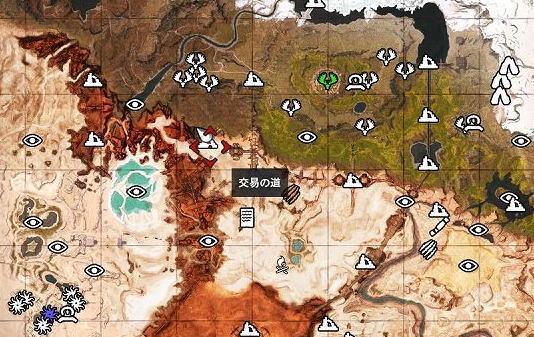 砂漠地帯と北の地との境目