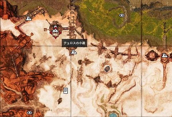 テュロスの小道 地図