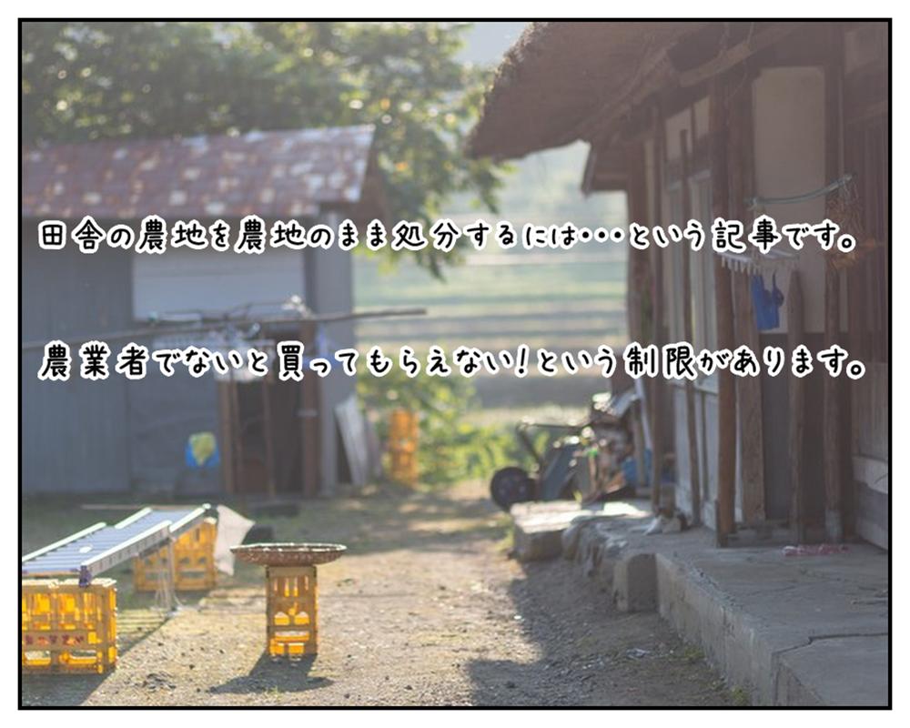 アイキャッチ画像(農地を農地のまま処分する場合の農地法第3条許可についてのブログ記事)