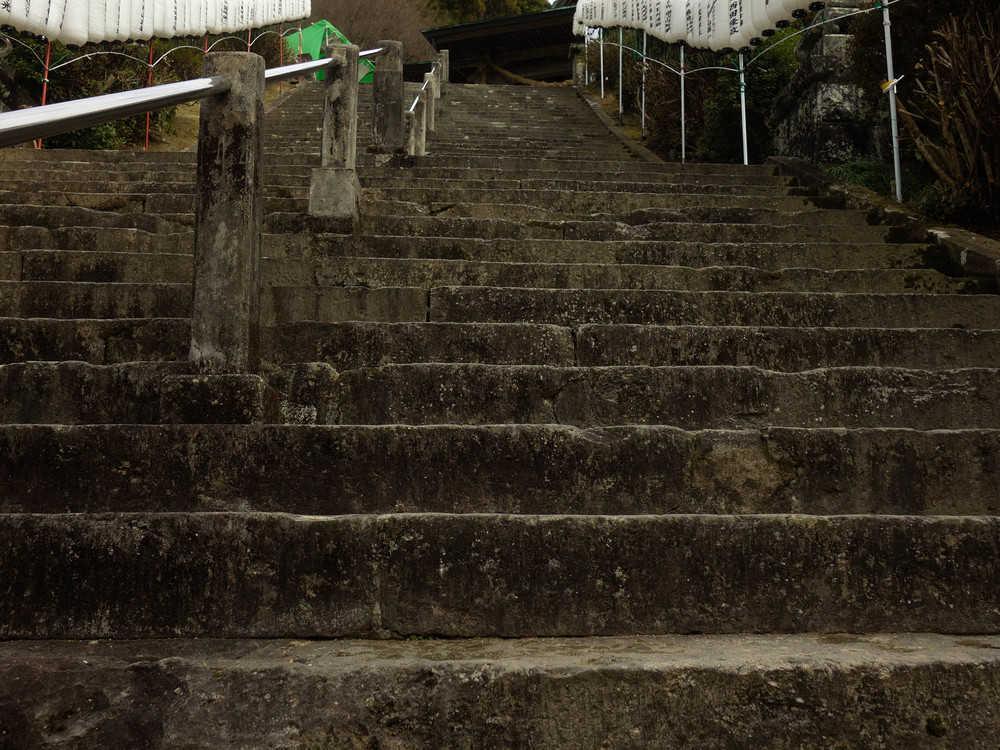 大津山神社最後の階段