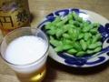 2011/07/27 枝豆と発泡酒