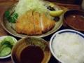 2012/01/26 菊屋 とんかつ定食