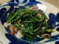 2014/03/24 芹と豚肉の炒めもの