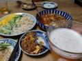 2014/07/27 麻婆豆腐、春雨サラダ