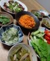 2015/08/10 野菜の惣菜いろいろ
