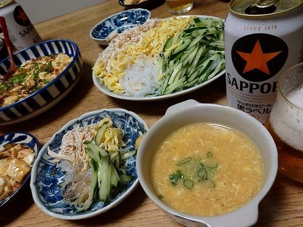 2016/08/24 麻婆豆腐&春雨サラダ