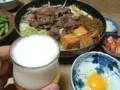 2017/07/19 フライパンすき焼き