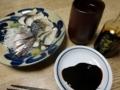 2018/01/12 芋焼酎お湯割り 鯖燻製
