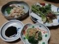 2018/04/07 晩飯 山菜の天ぷら